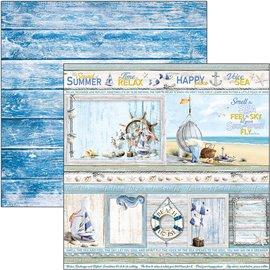 Papier scrapbooking réversible Ciao Bella the sound of summer cards 30x30