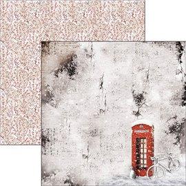 Papier scrapbooking réversible Ciao Bella snow falls soundlessly 30x30