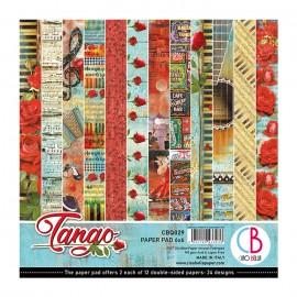 Papier scrapbooking 15x15 assortiment tango 24f