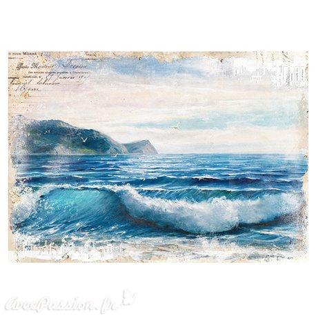 Transfert pelliculable Redesign Prima marketing décor Blue Wave