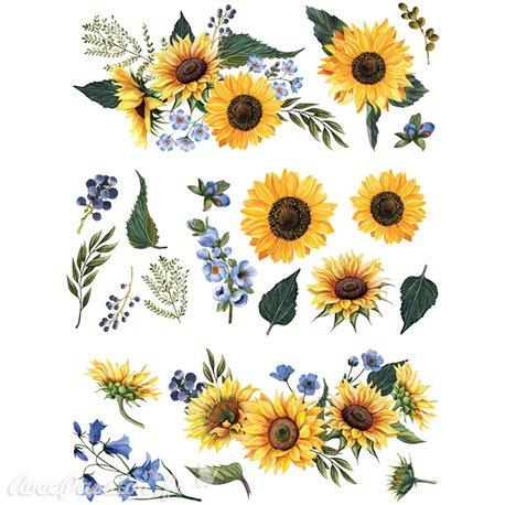 Transfert pelliculable Redesign Prima marketing décor Sunflower Fields