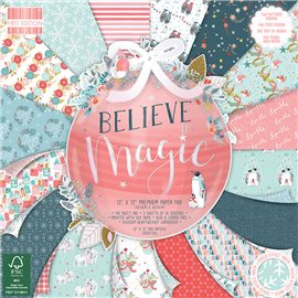 Papier scrapbooking assortiment believe magic bloc 48fe 30x30