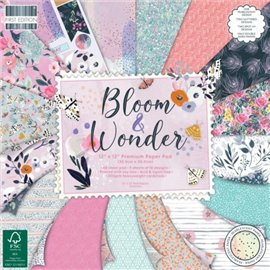 Papier scrapbooking assortiment bloom and wonder bloc 48fe 30x30