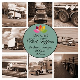 Etiquettes dixi toppers trucks brown 24p