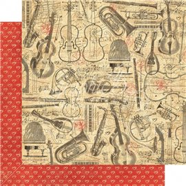 Papier scrapbooking réversible Graphic 45 musical masterpiece 30x30