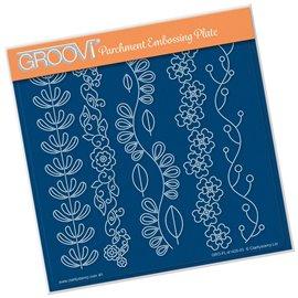 Groovi gabarit traçage parchemin 5 lignes décors folk art