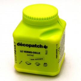 Vernis colle décopatch pot vert 180g