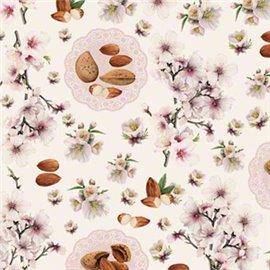 Papier tassotti à motifs amande
