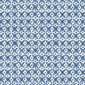 Papier tassotti à motifs mosaïque bleu