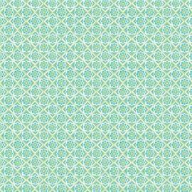 Papier tassotti à motifs mosaïque vert