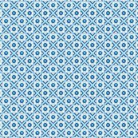 Papier tassotti à motifs mosaïque quadrillée bleu