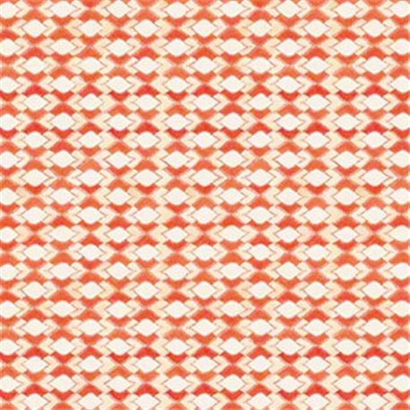 Papier tassotti à motifs drop orange