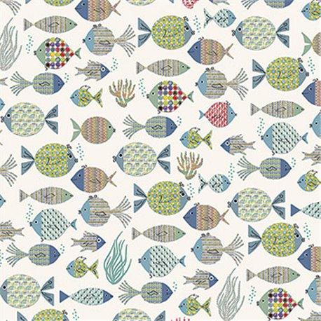 Papier tassotti à motifs poissons