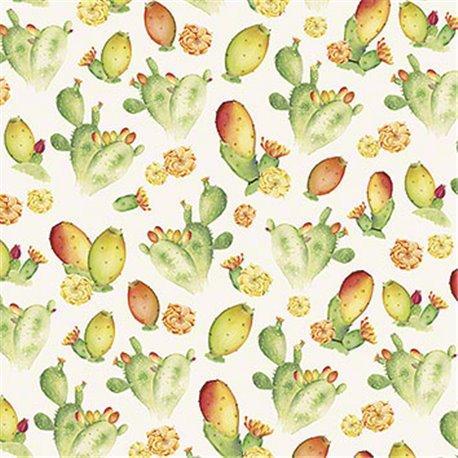 Papier tassotti motifs cactus figuier de barbarie