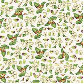 Papier tassotti à motifs pistache