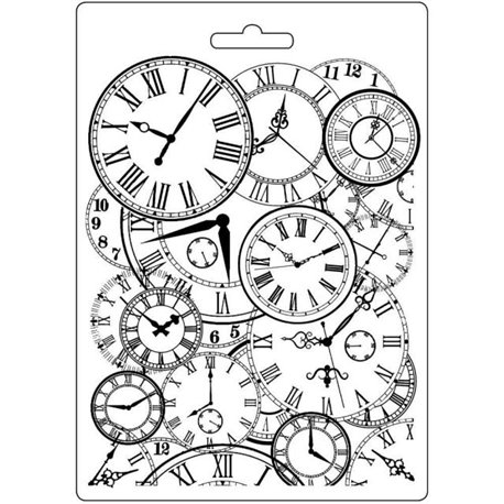 Moule souple soft mould Stamperia fin pour modelage horloges