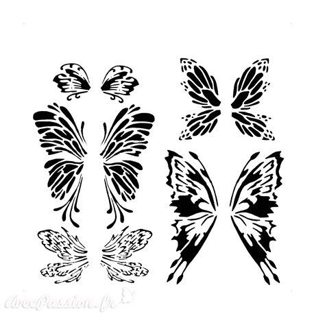 Pochoir plastique papillon fairywings 30x30cm