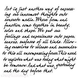 Pochoir plastique écriture art is 30x30cm