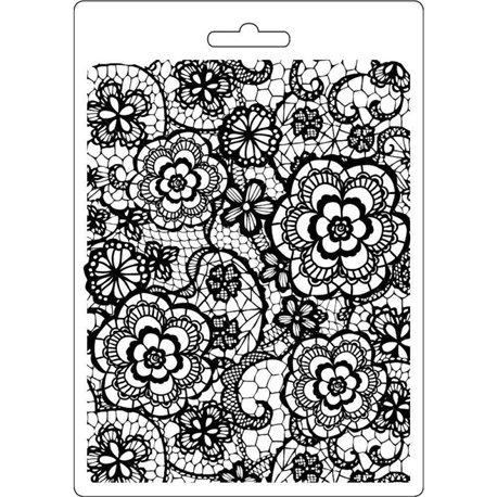 Moule souple soft mould Stamperia fin pour modelage textures fleuries