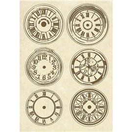Chipboard en bois silhouettes entaillées horloges