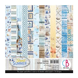 Papier scrapbooking 15x15 assortiment Ciao Bella summer 24f