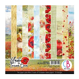 Papier scrapbooking 15x15 assortiment Ciao Bella under the tuscan sun 24f