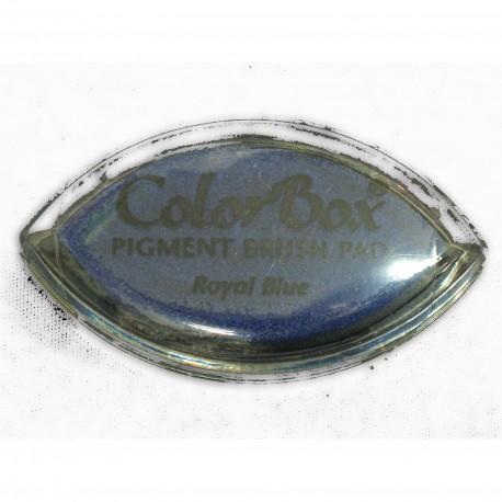 Encreur tampon Color Box oeil de chat royal blue