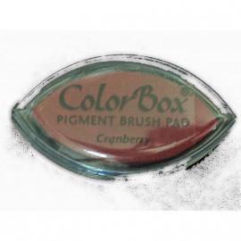 Encreur tampon Color Box oeil de chat cranberry rouge