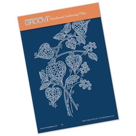 Groovi gabarit traçage parchemin bordure lanterne florale