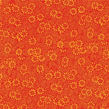 Papier népalais lokta lamaLi prairie orange ton sur ton