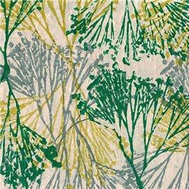 Papier népalais lokta lamaLi motifs fantaisie vert