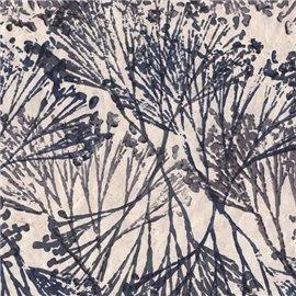 Papier népalais lokta lamaLi motifs fantaisie gris
