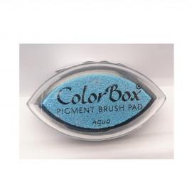 Encreur tampon Color Box oeil de chat aqua