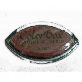 Encreur tampon Color Box oeil de chat chiant rouge