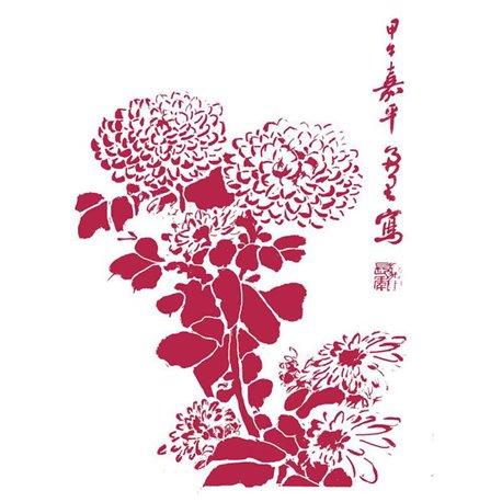 Pochoir décoratif fin Stamperia fleurs 21x30cm