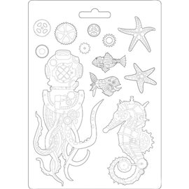 Moule décoratif thermoformé Stamperia sea world stampo