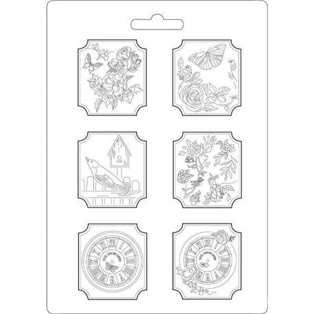 Moule décoratif thermoformé Stamperia maison des roses stampo