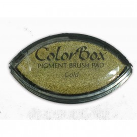 Encreur tampon Color Box oeil de chat or