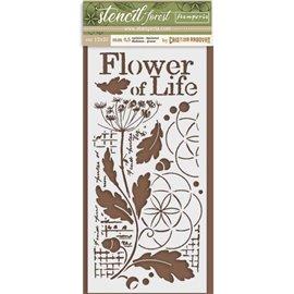 Pochoir décoratif Stamperia fleurs de vie