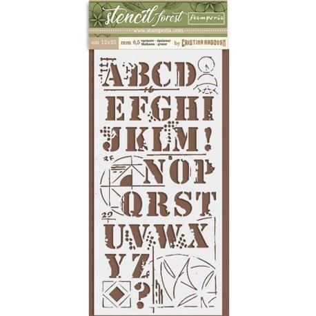 Pochoir décoratif Stamperia alphabet