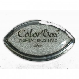 Encreur tampon Color Box oeil de chat argent