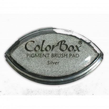 Encreur tampon Color Box oeil de chat argent