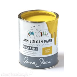 Peinture Chalk Paint Annie Sloan English Yellow 1L