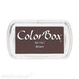 Encreur tampon Color Box mini brown