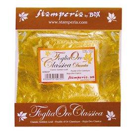 Feuilles de cuivre or jaune 11 feuilles