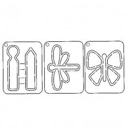 Gabarit de découpe scrapbooking papier papillons Artemio