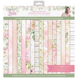 Papier scrapbooking assortiment garden of love 48fe