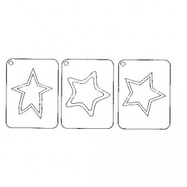 Gabarit de découpe scrapbooking papier étoiles Artemio