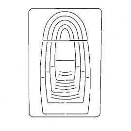 Gabarit de découpe scrapbooking papier sac Artemio