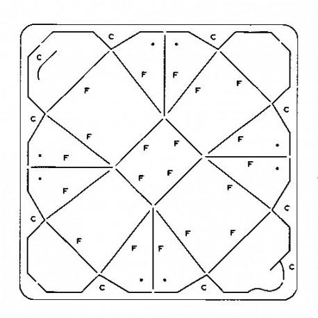 Gabarit d coupe papier photo boite artemio scrapbooking - Gabarit boite en papier ...